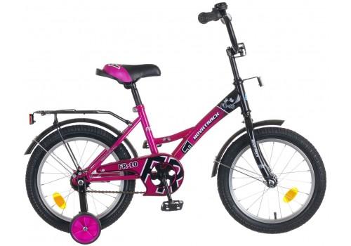 Велосипед 18 дюймов Новатрек FR-10 фиолетовый 077386