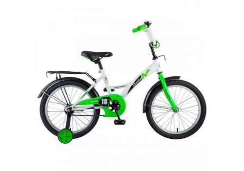 Велосипед 18 дюймов Новатрек STRIKE белый-зелёный