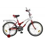 Велосипед 20 дюймов Новатрек ZEBRA RD5 красно/белый