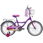 Велосипед 20 дюймов Новатрек LITTLE GIRLZZ фиолетовый