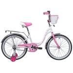 Велосипед Novatrack 20 дюймов BUTTERFLY белый-розовый