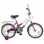 Велосипед Novatrack 20 дюймов ZEBRA CLR5 сиренево/белый