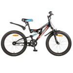 Велосипед 20 дюймов Novatrack SHARK 1-скоростной Falcon черный