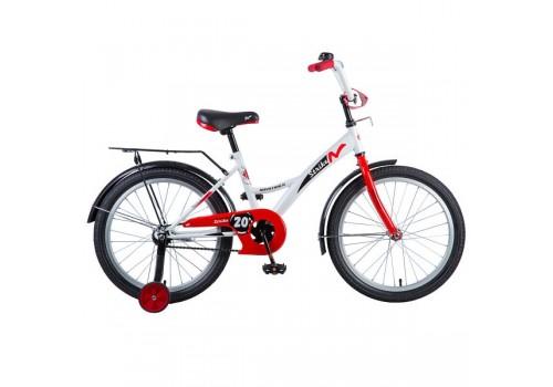 "Велосипед 20"" NOVATRACK STRIKE белый-красный 203STRIKE.WTR8"