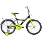 """Велосипед 20 дюймов NOVATRACK 20"""" ASTRA  черно-салатовый"""