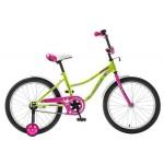 Велосипед 20 дюймов Новатрек NEPTUN GN5 салатовый/розовый