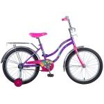 Велосипед 20 дюймов Новатрек TETRIS фиолетовый 126763