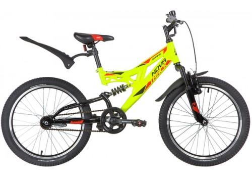 """Велосипед 20 дюймов NOVATRACK 20"""" SHARK салатовый, сталь, 1-скор, Falcon"""