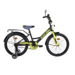 Велосипед 20 дюймов Black Agua Fishka МАТТ со светящимися колесами KG2027 хаки/лимонный