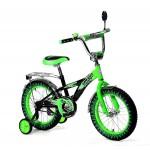 Велосипед 20 дюймов Black Agua Hot-Rod со светящимися колесами зеленый KG2006