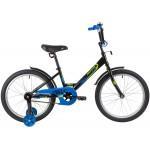 Велосипед NOVATRACK 20 дюймов TWIST черный синий 201TWIST.BK20