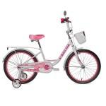 Велосипед 20 дюймов Black Agua Sweet 1скорость белый-розовый KG2003