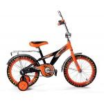 Велосипед 20 дюймов Black Agua Hot-Rod со светящимися колесами оранжевый KG2006