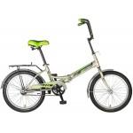 Велосипед 20 дюймов NOVATRACK TG30 складной,серый