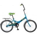 Велосипед Новатрек 20 дюймов TG20 синий складной