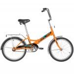 Велосипед Новатрек 20 дюймов TG20 оранжевый складной