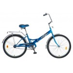 Велосипед Новатрек 24 дюймов FS синий складной