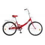Велосипед 24 дюйма Новатрек FS складной красный