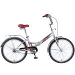 Велосипед Новатрек 24 дюймов FS30 серебристый складной
