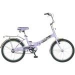 Велосипед Новатрек 20 дюймов FS30 сиреневый складной