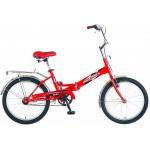Велосипед 20 дюймов NOVATRACK складной FS30 красный 20FFS301.VRD5