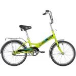 Велосипед 20 дюймов Новатрек TG20 зеленый складной