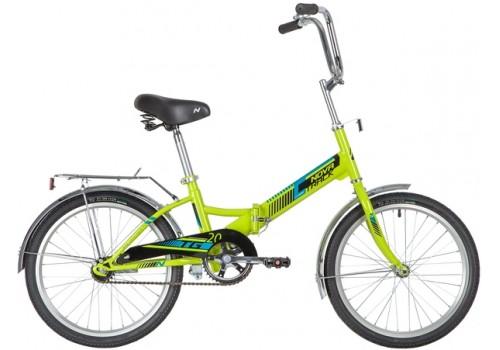 Детский подростковый велосипед 20 дюймов Novatrack TG20 зеленый складной