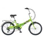 Велосипед Новатрек 20 дюймов складной FS30 салатовый 6 скоростей