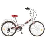 Велосипед Новатрек 24 дюймов складной 6 скоростей белый
