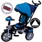 Велосипед 3-х колесный Формула 5 голубой FA5B надувные колёса, поворотное сиденье