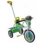 Велосипед трехколесный Малыш с управляемой ручкой, ограждением, подножкой 09