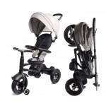 Велосипед 3-х колесный складной Moby Kids Qplay Rito с надувными колесами QA6BJ серый