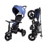 Велосипед 3-х колесный складной Moby Kids Qplay Rito с надувными колесами QA6J синий