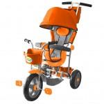 3-х колесный велосипед Galaxy Лучик с капюшоном с оранжевый Л001О