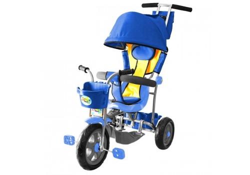 3-х колесный велосипед Galaxy Лучик с капюшоном голубой Л001Г