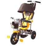 3-х колесный велосипед Galaxy Лучик с капюшоном желтый Л001Ж