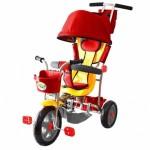 3-х колесный велосипед Galaxy Лучик с капюшоном красный Л001К