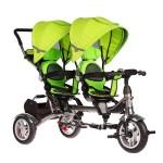 Велосипед для двойняшек 3-х колесный ВА TWINS зеленый