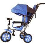 3-х колесный велосипед Лучик Малют-2 с капюшоном голубой Л001Г