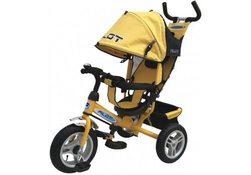 PILOT PTA3Y -  велосипед детский с надувными колесами желтый