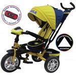 Велосипед 3-х колесный Формула 5 желтый FA5Y надувные колёса, поворотное сиденье