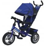 Велосипед трехколесный PILOT с ручкой надувные колёса синий PТА3В