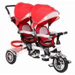 Велосипед для двойняшек 3-х колесный ВА TWINS красный