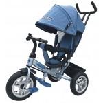 Велосипед 3-х колесный PILOT голубой джинс надувные колеса PTA3J