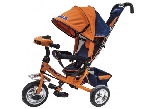 Велосипед 3-х колесный FORMULA 3 F3O оранжевый с фарой