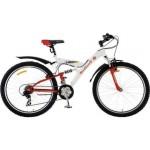 Велосипед 26 дюймов топ гир 2-х подвесный рама 20д Neon 225 18ск 2диск