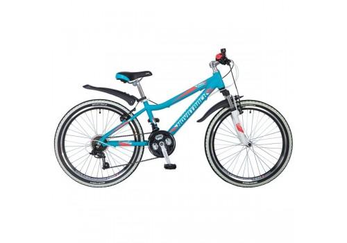 Велосипед 24 дюйма Novatrack Ancona аквамарин алюм. рама 14 д 24AHV.NOVARA.14BL8