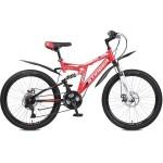 """Велосипед 24 дюйма Stinger Highiander 100D 16,5"""" красный TZ30/TY21/RS35"""