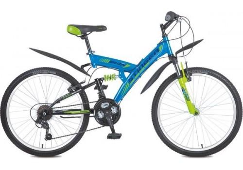 "Велосипед 24 дюйма Stinger Banzai 14"" синий TZ30/TY21/RS35"