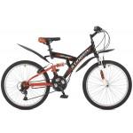 "Велосипед 24 дюйма Stinger Banzai рама 14"" черный TZ30/TY21/RS35 117394"